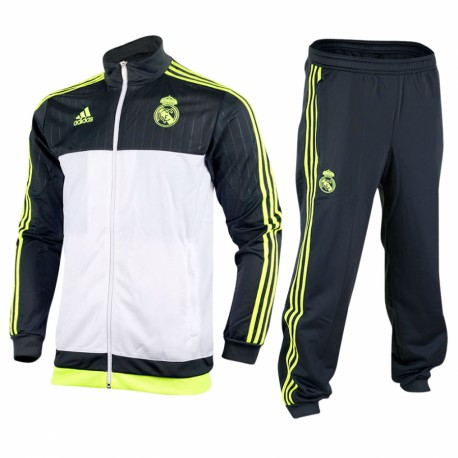 CHANDAL OF. REAL MADRID GRIS-BLANCO