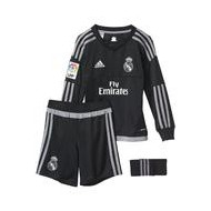 PACK NIÑO OF. REAL MADRID PORTERO NEGRO